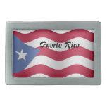 Puerto Rico Hebilla Cinturón Rectangular