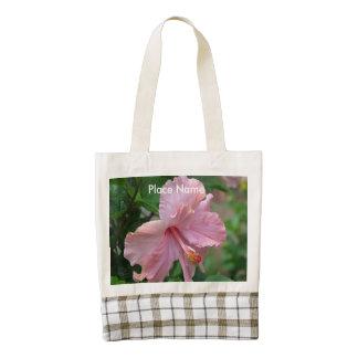Puerto Rico Hibiscus Zazzle HEART Tote Bag
