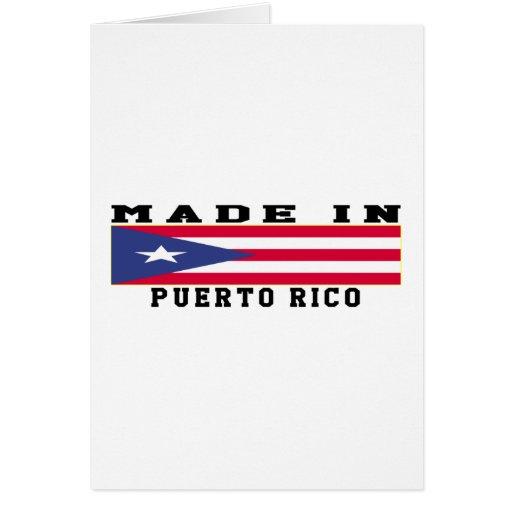 Puerto Rico hizo en diseños Tarjeta De Felicitación