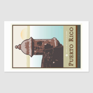 Puerto Rico I Rectangular Sticker