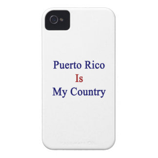 Puerto Rico Is My Country iPhone 4 Covers