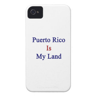 Puerto Rico Is My Land iPhone 4 Case-Mate Case