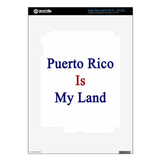 Puerto Rico Is My Land Decals For iPad 3