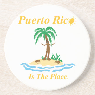 Puerto Rico Is The Place Beverage Coaster