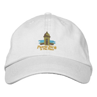 Puerto Rico Is The Place Embroiderd Hat Embroidered Baseball Cap