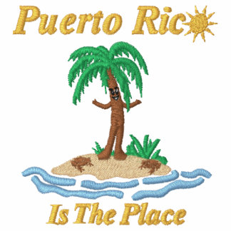 Puerto Rico Is The Place Embroidered  Polo