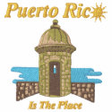 Puerto Rico Is The Place Embroidered Shirt embroideredshirt
