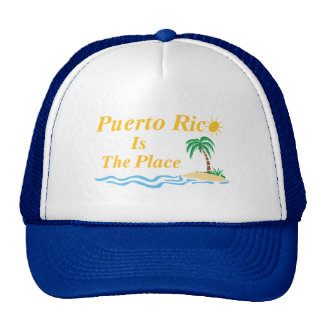 Puerto Rico Is The Place Mesh Hat
