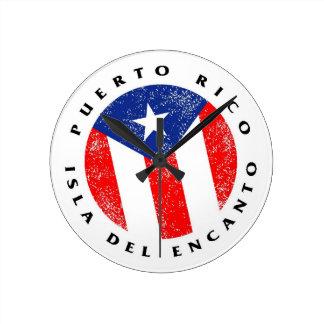 Puerto Rico Isla del Encanto Wall Clock