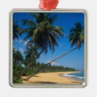 Puerto Rico, Isla Verde, palm trees. Metal Ornament