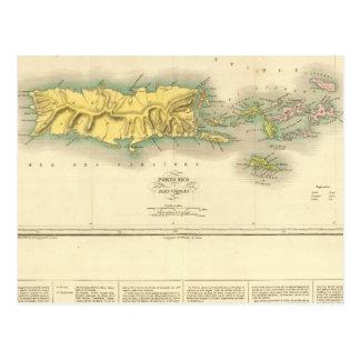 Puerto Rico, Islas Vírgenes Tarjeta Postal