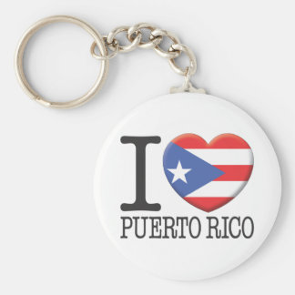 Puerto Rico Basic Round Button Keychain