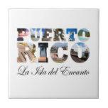 Puerto Rico La Isla Del Encanto Azulejo Cuadrado Pequeño