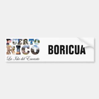 Puerto Rico La Isla Del Encanto Boricua Pegatina Para Auto