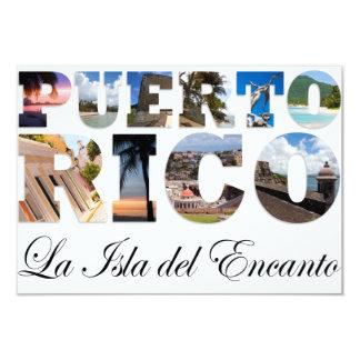 Puerto Rico La Isla Del Encanto Collage / Montage Custom Announcement