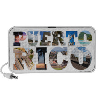 Puerto Rico La Isla Del Encanto Collage / Montage Notebook Speaker