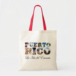 Puerto Rico La Isla Del Encanto Collage/montaje Bolsa Tela Barata