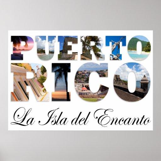 Puerto Rico La Isla Del Encanto Collage Posters