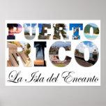 Puerto Rico La Isla Del Encanto Collage Poster
