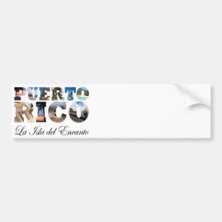 Puerto Rico La Isla Del Encanto Montage Bumper Sticker