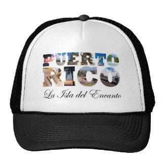 Puerto Rico La Isla Del Encanto Montage Gorras De Camionero
