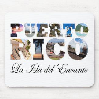 Puerto Rico La Isla Del Encanto Montage Mouse Pad