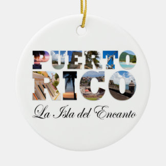 Puerto Rico La Isla Del Encanto Montage Ornament