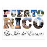 Puerto Rico La Isla Del Encanto Montage Postcard