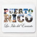 Puerto Rico La Isla Del Encanto Montage Tapete De Ratón