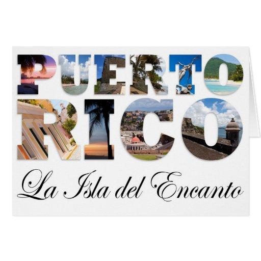 Puerto Rico La Isla Del Encanto Montage Felicitacion