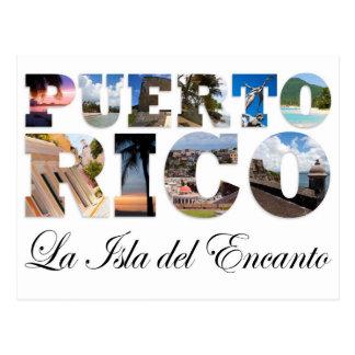 Puerto Rico La Isla Del Encanto Montage Postales