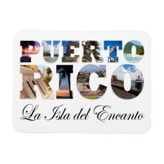 Puerto Rico La Isla Del Encanto Rectangular Photo Magnet