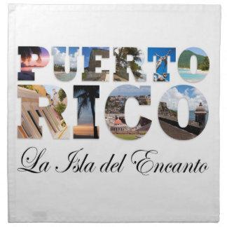 Puerto Rico La Isla Del Encanto Servilletas Imprimidas