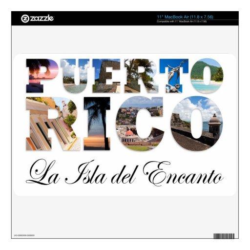 Puerto Rico La Isla Del Encanto Skins Para elMacBook Air