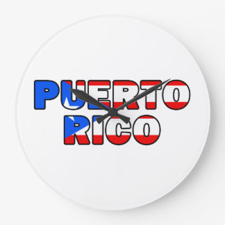 Puerto Rico Large Clock