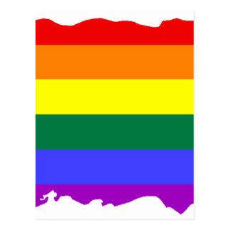 Puerto Rico LGBT Flag Map Postcard