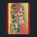 "Puerto Rico Magnet<br><div class=""desc"">Vintage Large Letter Post Card Image Magnet Vintage Tichnor Image/Boston Public Library Collection</div>"
