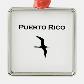 Puerto Rico Man O' War Bird Metal Ornament