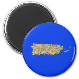 Puerto Rico Map Magnet