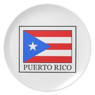 Puerto Rico Melamine Plate