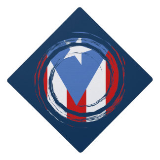 Puerto Rico Modern Flag Design Graduation Cap Topper