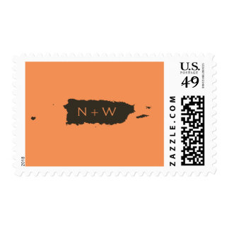 Puerto Rico Monogram: Orange Postage