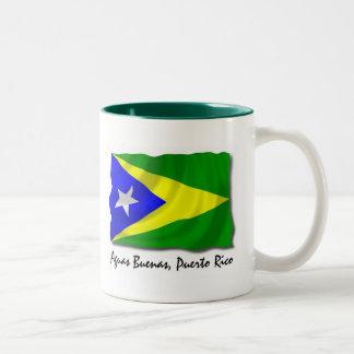 Puerto Rico Mug: Aguas Buenas Two-Tone Coffee Mug