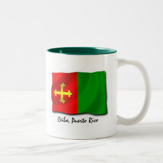 Puerto Rico Mug: Ceiba Two-Tone Coffee Mug