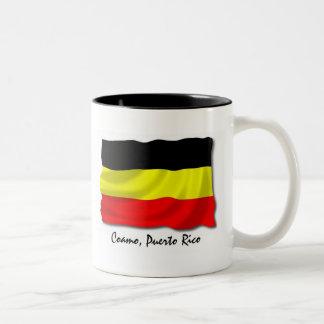 Puerto Rico Mug: Coamo Two-Tone Coffee Mug