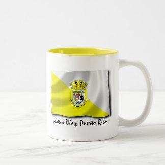 Puerto Rico Mug: Juana Diaz Two-Tone Coffee Mug