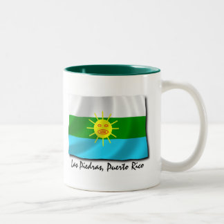 Puerto Rico Mug: Las Piedras Two-Tone Coffee Mug