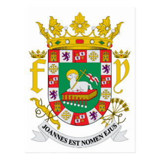Puerto Rico Official Coat Of Arms Heraldry Symbol Post Cards