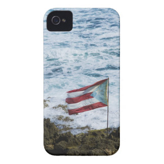 Puerto Rico, Old San Juan, flag of Puerto rice iPhone 4 Case-Mate Cases