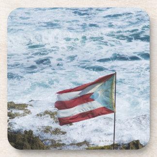 Puerto Rico, Old San Juan, flag of Puerto rice Beverage Coaster